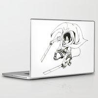 levi Laptop & iPad Skins featuring Levi Ackerman: Humanities Strongest by Reira Hoshikuzu