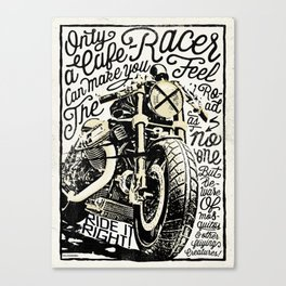Feel the Road with a Cafe Racer 2 Canvas Print