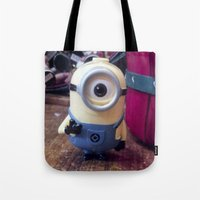minion Tote Bags featuring Minion by G o C