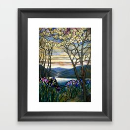 Louis Comfort Tiffany - Decorative stained glass 5. Framed Art Print