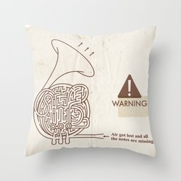 Horn players, watch out!! :P Throw Pillow