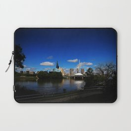 Downtown Winnipeg 3 Picture Panorama Laptop Sleeve