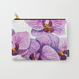 orchid watercolor Carry-All Pouch