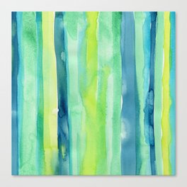 Vertical Stripes Pattern Spring Colors Canvas Print