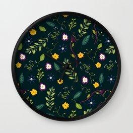 Floral Greenery Pattern I Wall Clock