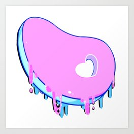 Dripping Heart Bone Steak Art Print