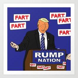 RUMP NATION Art Print