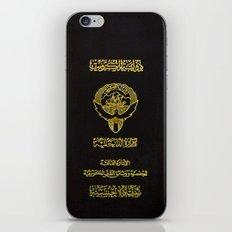 Kuwaiti Pass Black iPhone & iPod Skin