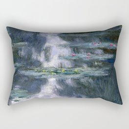 Monet - Water Lilies (Nymphéas), 1907 Rectangular Pillow