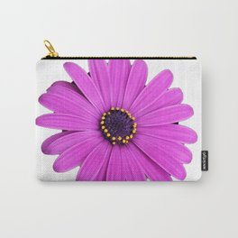 Purple Daisy Flower Carry-All Pouch