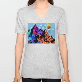 Colored Peaks Unisex V-Neck