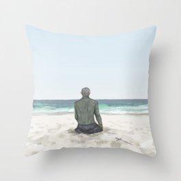 Rowan on the Beach Throw Pillow
