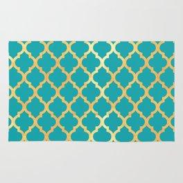 Moroccan Gold & Turqoise Rug