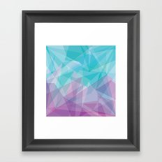 Stained Glass - Blue Purple Framed Art Print