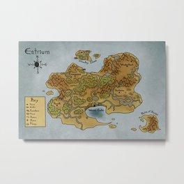 Fallen Map Metal Print