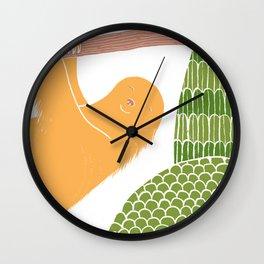 Sleepy Happy Sloth Wall Clock