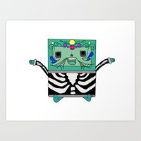 bmo Art Prints featuring BMO by Ilse Nonsense