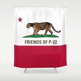 Friends of P-22 Shower Curtain