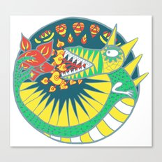 Circle Dragon Canvas Print