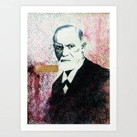 freud Art Prints featuring Freud by smercadante