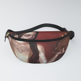 Wonderful fantasy women with skull Fanny Pack
