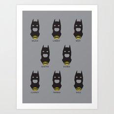 Men of Bats Art Print
