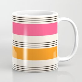 Stripes and Lines pink and orange Coffee Mug