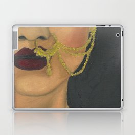 Woman With a Nose Ring Laptop & iPad Skin