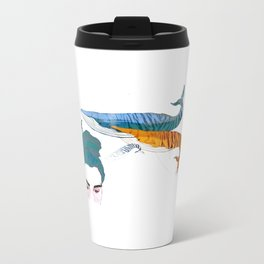 Tiger striped whale dreams Metal Travel Mug