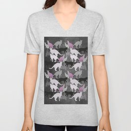 cat pattern Unisex V-Neck