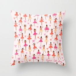 Dance All Day Throw Pillow