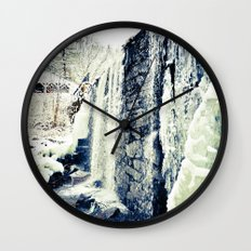 Frozen Falls Wall Clock