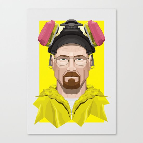 Breaking Bad - Walter White in Lab Gear Canvas Print