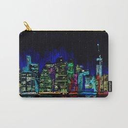 Manhattan skyline from Brooklyn Carry-All Pouch