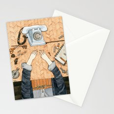 Waiting for a call Stationery Cards