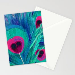 Peacocks Feathers Stationery Cards