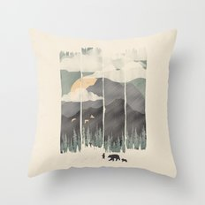 Spring Mountain Weather Throw Pillow