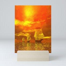 Segelschiffe im Sonnenschein Mini Art Print