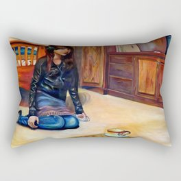 Te Espero Sentada Rectangular Pillow