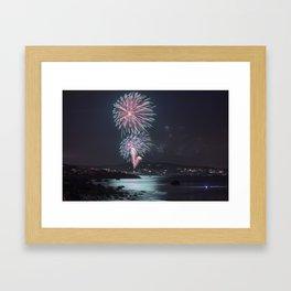 Rockport Firework at Old Garden Beach Framed Art Print