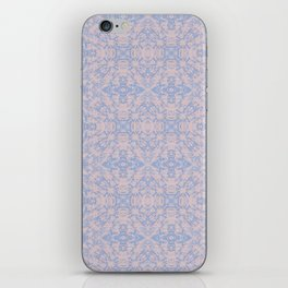 Light pink and blue tapestry 4635 iPhone Skin