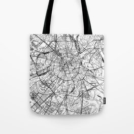 Moscow White Map Tote Bag