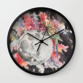 A Parakeet Goes to the Moon Wall Clock