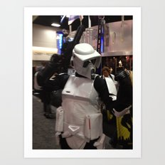 Rock On Scout Trooper, Rock On!!! Art Print