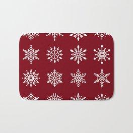 Winter Snowflakes Bath Mat