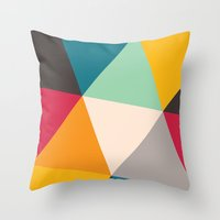 Throw Pillows featuring Triangles by Gary Andrew Clarke