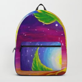 A new life plant growth under the sun light Backpack