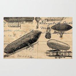 Vintage Hot Air Balloon Study Rug