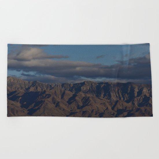 Virgin Mountains in February Beach Towel