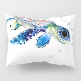 Sea Turtle Illustration Pillow Sham